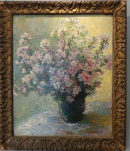 Monet Vase of Flowers