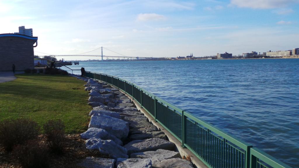 Ambassador Bridge Detroit River